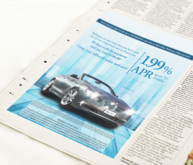 Car loan bank ad