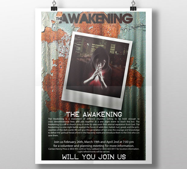 the awakening church youth poster