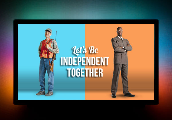let's be independent together worship silde animated gif