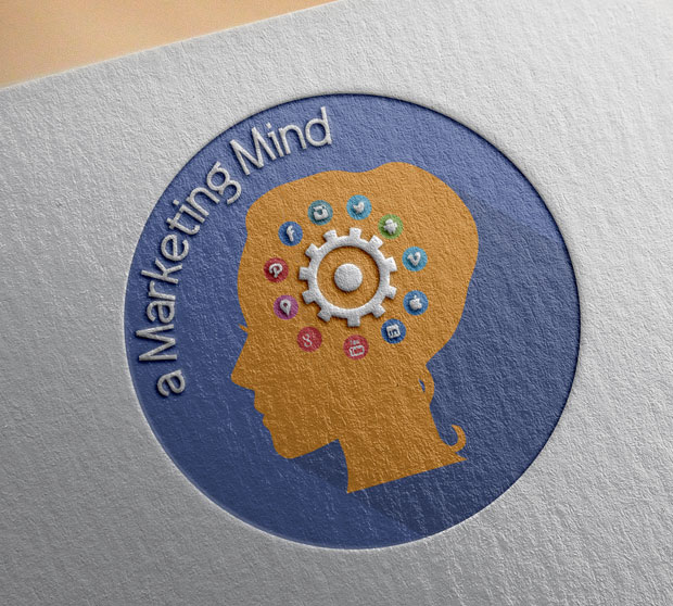 a marketing mind logo design brand identity