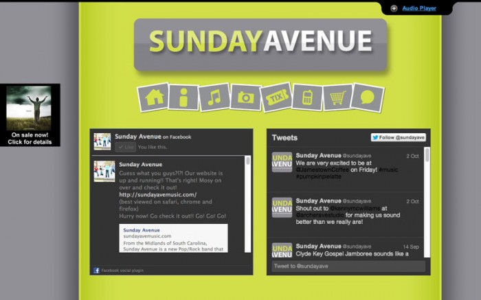 sunday avenue christian band web site home page